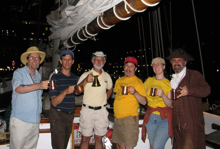 Black Tot Day Revelers on the Liberty Clipper