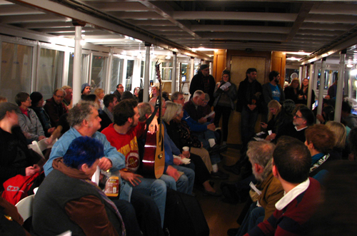 Northwest Seaport Chantey Sing aboard the Virginia V (photo by D. Kessler)