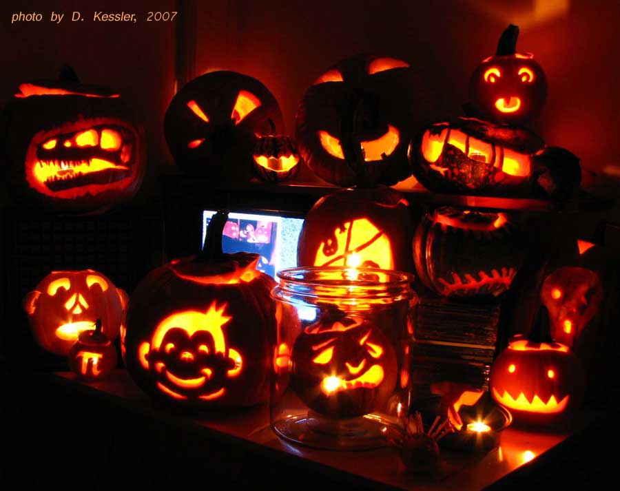 pumpkin carving, 2007