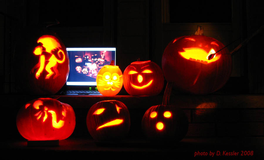 pumpkin carving, 2008